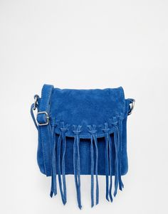 Image 1 ofPieces Suede Cross Body with Fringing