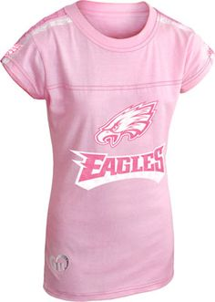 #Eagles Girls Pink Heathered T-Shirt. $21.99