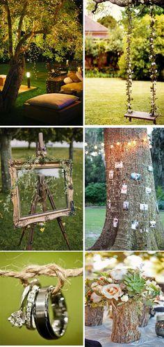 backyard themed wedding decorations