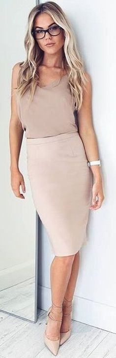 All Nude 'Float Top' + 'Claim It Back Skirt'                                                                             Source
