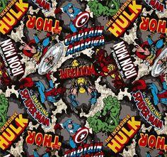 Stoffe gemustert - Stoff FQ :: Marvel the avengers :: - ein Designerstück von nosgustanlosretros bei DaWanda
