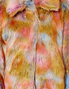 uh. rainbow faux fur coat. for those zany days.