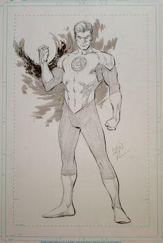 Hal Jordan, in Jean-Michel Anneau's Ivan Reis Comic Art Gallery Room Superhero Sketches, Drawing Superheroes, Comic Book Drawing, Batman Drawing, Comic Book Artists, Comic Books Art, Comic Art, Green Lantern Hal Jordan, Green Lantern Corps