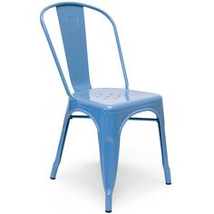 """Aeon Garvin-1 Side Chair Blue 1 - Our Garvin-1 galvanized steel chair's classic industrial look is perfect in a variety of settings. Whether it's in your urban apartment or your rustic country home, the Garvin-1 is both stylish and functional. Chairs are suitable for indoor or outdoor use and come with non-marking feet to protect your floors. Dimensions: 17.5""""w x 18""""d x 33""""h."""
