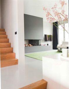 Otra chimenea, mueble y Tv con igual distribución