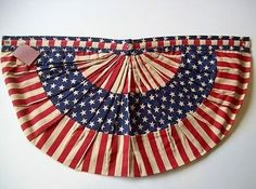 Stunning vintage bunting.  I want to figure out how to make a bunting like this.