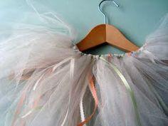 No sew tutu with ribbon.