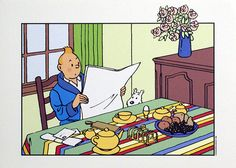 Breakfast with Tintin and Snowy