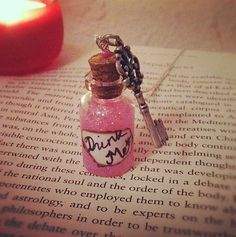 Alice in Wonderland Mini Glass Potion