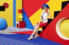 Ideas For Pop Art Painting Creative Pop Art Fashion, Fashion Shoot, Editorial Fashion, Fashion Portraits, Mondrian, Psychedelic Art, Moda Pop Art, Sagmeister And Walsh, Stefan Sagmeister