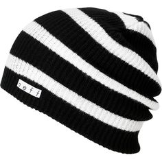 Neff Daily Black & White Stripe Beanie at Zumiez : PDP ($18) ❤ liked on Polyvore