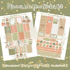 New!!! DIY Planner Love Printable Planner Stickers Mini Kits pdf 2 jpeg Erin Condren Life Planner Filofax MAMBI Color Crush Websters
