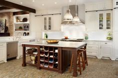Custom cabinetry by Plain & Fancy. Handmade cabinets for any room of the house. Kitchen Inspirations, Freestanding Kitchen Island, Custom Kitchen Island, Kitchen Design, Country Kitchen Designs, Brown Kitchens, Fancy Kitchens, Contemporary Kitchen, Country Kitchen
