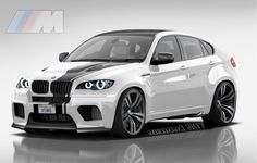 """""""2011 BMW X6 ///M (Cayenne Killer) """"Angel Eyes"""" """" by Virtual Tuners Mod Garage want more? visit - http://themotolovers.com"""