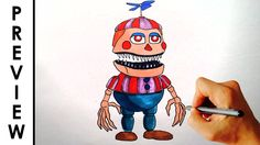 ♥ How to draw Nightmare Balloon Boy from FNAF 4 Halloween edition Preview