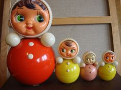 Yellow Rolypoly Nevalyashka vintage toy ding by OldMoscowVintage, $30.00