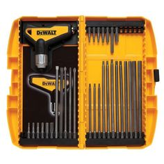 Model 31 Piece Ratcheting T Handle Hex Key Set - Dewalt 31 Piece Ratcheting T Handle Hex Key Set. Patent pending solid steel internal construction for added strength. Best Hand Tools, Cheap Power Tools, Dewalt Tools, Dewalt Cordless Tools, Plumbing Emergency, Plumbing Problems, Insulation Materials, Wrench Tool, Hex Wrench
