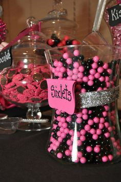 Black Hot Pink & White Birthday Party Ideas Pink Black Sweet