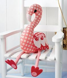 Cute Stuffed Flamingo