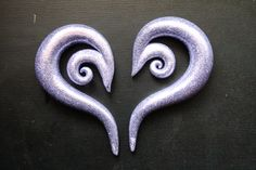 http://www.etsy.com/listing/97198467/lilac-fairy-00g-swirl-plugs Go buy me! #plugs #gauges #stretched #ears #polymer #glitter #00g