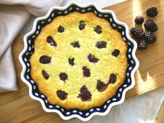 Blackberry and Coconut Clafoutis - a traditional clafoutis made free from gluten, dairy and refined sugar to give it a healthy twist!