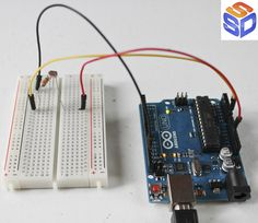 Arduino Projects 11   Photocells, 3 Easy Ways to use Light.  See the circuit, the code, and 'how to' examples walking step by step through the process of using photocells to control lights, motors, and more.