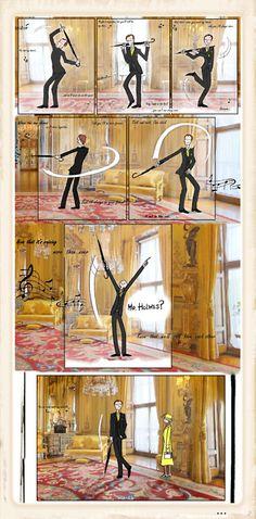 Mycroft & his umbrella: still a better love story than Twilight.