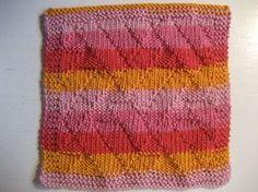 Zigzag. Klud med et kønt strukturmønster, som bedst træder frem i ensfarvet garn eller garn med lange farveskift.