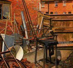 The Blacksmith's Yard, Cookham - Stanley Spencer