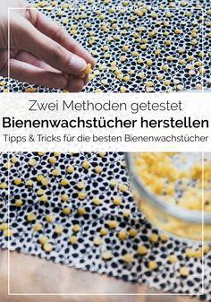 Make DIY beeswax towels yourself - two methods - DIY Bienenwachstücher selber machen – zwei Methoden DIY Diy Kitchen Projects, Diy Projects, Kitchen Tips, Cactus Wall Art, Diy Kitchen Storage, Zero Waste, Diy And Crafts, Homemade, How To Make