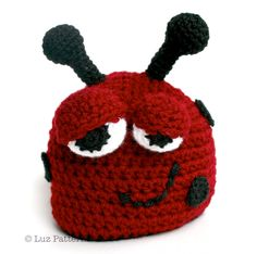 Crochet hat pattern crochet baby ladybug hat by LuzPatterns