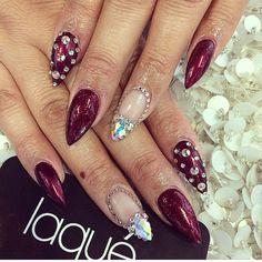 Red gem nails