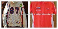 Racing to @eBay #Retro #SteveMcQueen #Bomber #Jacket & #MichaelSchumacher Shirt