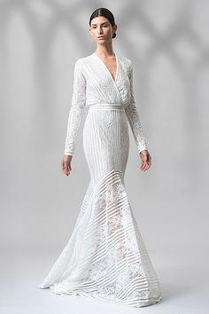 Wedding gown by Tadashi Shoji