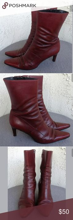 Cole Haan Boots Cordovan Burgundy Size 7 B