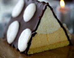 Bûche au chocolat blanc et aux fruits de la passion