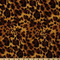 Laguna Stretch Cotton Jersey Knit Leopard Sable. Great for a tiered maxi dress