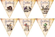 $10 Alice in Wonderland Party Banner with Characters Party Decoration | eBay