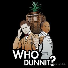 """Who Dunnit?"" T-Shirts & Hoodies by Patrick Scullin 