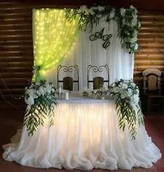 Altar, Wedding Table, Wedding Reception, Decoration Evenementielle, Wedding Decorations, Table Decorations, Communion Dresses, Backdrops, Stage