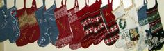 Christmas stockings made from sweaters