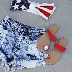 Show your patriotic spirit all summer long! #gojane #summer #cutoffs