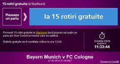 Pariaza pe Bayern - Koln si ia 15 rotiri gratuite la Sportingbet - Ponturi Bune