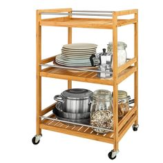 sobuy® servierwagen, küchenwagen, rollwagen m. schublade,fkw23-n ... - Rollwagen Für Küche