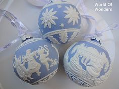 #Wedgwood #Christmas baubles