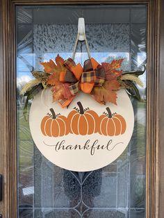 Halloween Door Hangers, Fall Door Hangers, Wood Door Hanger, Wooden Hangers, Fall Wood Signs, Fall Signs, Fall Pallet Signs, Holiday Signs, Fall Crafts
