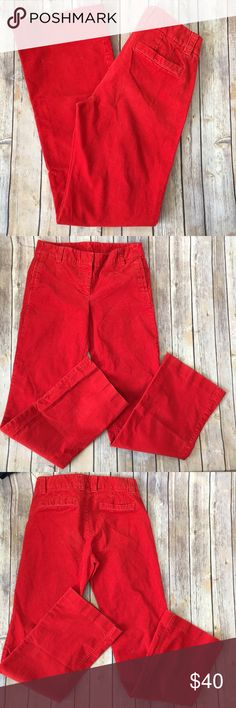 """J.Crew Favorite Fit Stretch Vintage Trouser Cords Tag Size - 4 Waist Measured Across - 15.5"""" Inseam - 33"""" Rise - 9"""" Great used condition! Always open to reasonable offers! J. Crew Pants Trousers"""