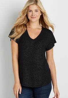 the 24/7 dolman tee with metallic shimmer (original price, $20.00) available at #Maurices