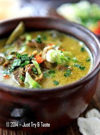 Just Try & Taste: Empal Gentong a la Just Try & Taste Asian Recipes, Beef Recipes, Cooking Recipes, Healthy Recipes, Ethnic Recipes, Chicken And Beef Recipe, Indonesian Cuisine, Indonesian Recipes, A Food