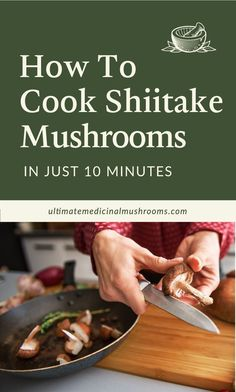 Shiitake mushrooms are a good introduction to cooking medicinal mushrooms. They are super tasty and filled with amazing health benefits. With just 3 simple ingredients, you can cook your first ever shiitake dish! | Discover more about medicinal mushrooms at ultimatemedicinalmushrooms.com #cookingmushrooms #shiitakemushroomsbenefits #shiitakebenefits #shiitakerecipes #howtocookshiitakemushrooms Poisonous Mushrooms, Edible Mushrooms, Growing Mushrooms, Stuffed Mushrooms, All You Need Is, Good Introduction, Mushroom Hunting, Eating Raw, Mushroom Recipes